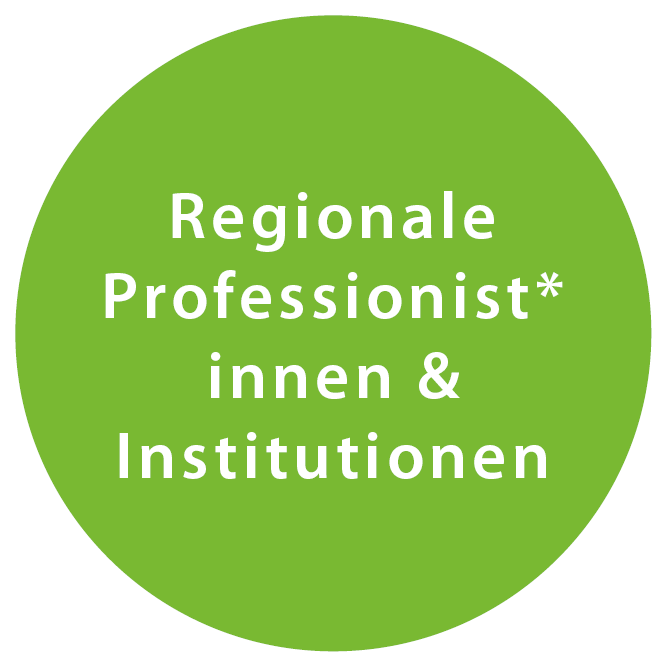 Regionale Professionist*innen & Institutionen